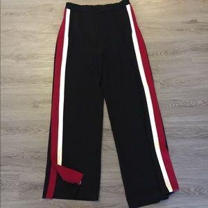 Pajam Style Black Pant with Red & White Stripe